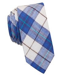 Original Penguin Hall Plaid Tie Blue