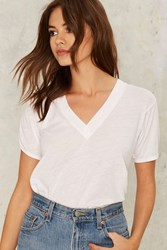 Camp Collection Prank Specialist V Neck Tee White