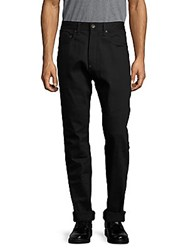 Rag And Bone Solid Rolled Cuff Pants Black Selvage