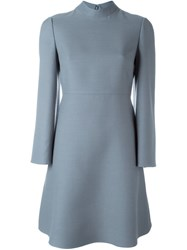 Valentino Crepe Couture Dress Blue
