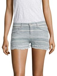 Hudson Midori Double Striped Layer Shorts Barely There