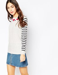 Sugarhill Boutique Folk Heart Jumper Cream