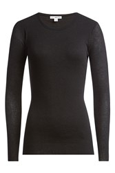 James Perse Cotton Top With Wool Black