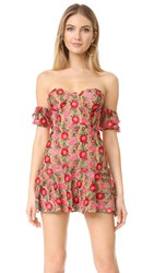 For Love And Lemons Amelia Strapless Mini Dress Rosebed