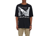 R 13 R13 Men's Bauhaus Cotton Blend Boyfriend T Shirt Black