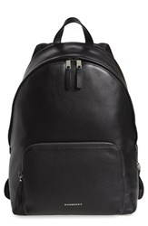 Burberry Men's 'Abbeydale' Leather Backpack Black