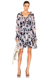 See By Chloe Print Dress In Floral Blue Floral Blue