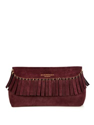 Burberry Fringed Suede Clutch