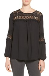 Pleione Women's Lace Yoke Blouse