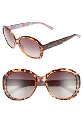 Lilly Pulitzerr Women's Pulitzer Magnolia 57Mm Polarized Round Sunglasses Havana