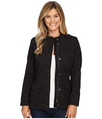 Lucky Brand Core Military Jacket Black Beauty Women's Coat