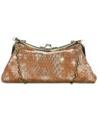 Patricia Nash Lina Small Frame Shoulder Bag Tan Gold