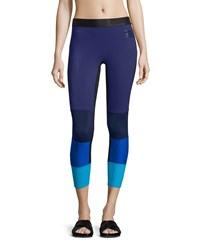 Monreal London Spectrum Colorblock Sport Leggings Cassis Women's Size S