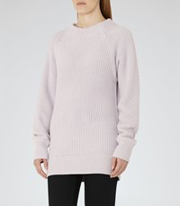 Reiss Imogen Womens Chunky Knitted Jumper In Pink