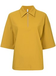 08Sircus Zipped Collar Blouse Yellow