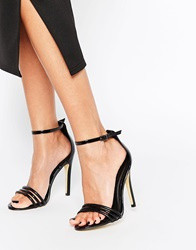 Truffle Collection Helen Barely There Heeled Sandals Blackblackpatent