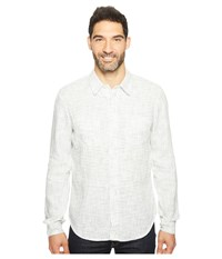 Agave Long Sleeve Woven Flotsam Jetsam White Combo Men's Long Sleeve Pullover