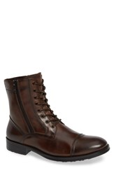 Kenneth Cole New York Hugh Cap Toe Boot Cognac Leather