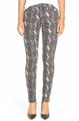 Women's Cj By Cookie Johnson 'Joy' Snakeskin Print Skinny Jeans Grey
