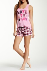 Paul Frank Essentials Pj Set Pink