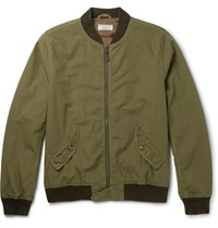 J.Crew Ma 1 Cotton Bomber Jacket Green