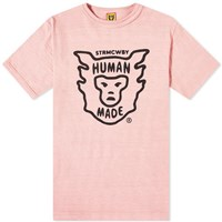 Human Made Face Logo Tee Pink