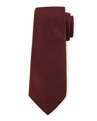 Textured Silk Tie Red Davidoff