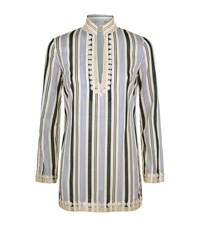 Tory Burch Villa Striped Tunic Female Multi