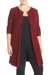 Plus Size Women's Lucky Brand Marled Long Waterfall Cardigan