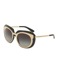 Dolce And Gabbana Dna Metal Inset Butterfly Sunglasses Black