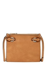 Sondra Roberts Distressed Nappa Crossbody Brown