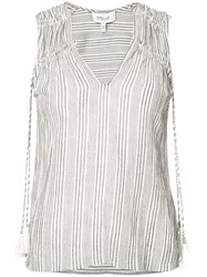 Derek Lam 10 Crosby Tassel Vest Women Cotton 4 Grey
