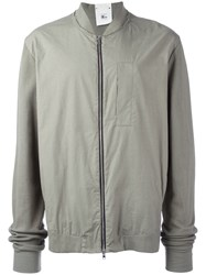 Lost And Found Rooms Zipped Bomber Jacket Grey