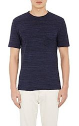 Officine Generale Melange T Shirt Blue