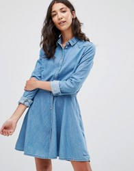 Pepe Jeans Silvy Denim Shirt Dress Blue