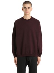 Yeezy Crewneck Cotton Sweatshirt Bordeaux