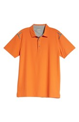 Bobby Jones Ergon Regular Fit Golf Polo Orange