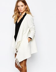 Supertrash Origami Throw On Jacket With Fringing Off White