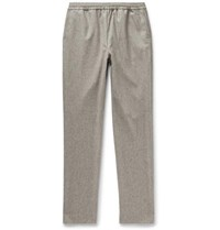 De Bonne Facture Tapered Wool Flannel Trousers Gray