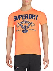 Superdry Protected Logo Graphic Tee Orange