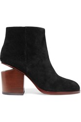 Alexander Wang Gabi Cutout Suede Ankle Boots Black