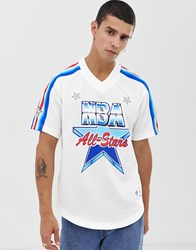 Mitchell And Ness 1991 All Star Mesh V Neck In White
