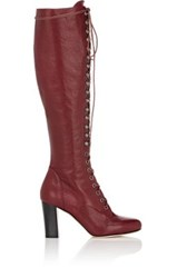 Philosophy Di Lorenzo Serafini Women's Lace Up Knee Boots Burgundy