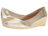 Sesto Meucci Myette Yute Metallic Nappa Silver Metallic Nappa 1 Women's Wedge Shoes Gold