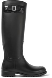 Saint Laurent Festival Rubber Rain Boots Black
