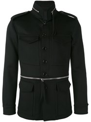 Alexander Mcqueen Field Jacket Men Cotton Viscose Virgin Wool Cashmere 48 Black
