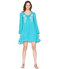 Rock And Roll Cowgirl Long Sleeve Dress D4 5807 Teal Blue