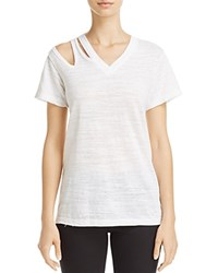 Lna Pine Cutout Shoulder Tee White