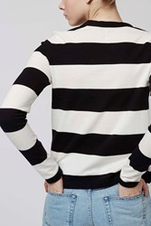 Mono Wide Stripe Top By Boutique Monochrome