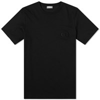 Christian Dior Cd Embroidered Logo Tee Black